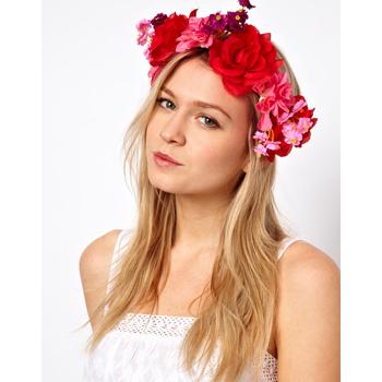 Asos flower headband, $16