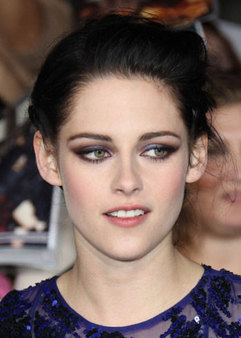 Kristen Stewart rocks her signature smoky eye look