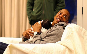 Jay-Z with daughter Blue Ivy