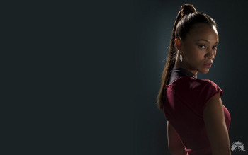 Zoe stars as Uhura in Star Trek Into Darkness
