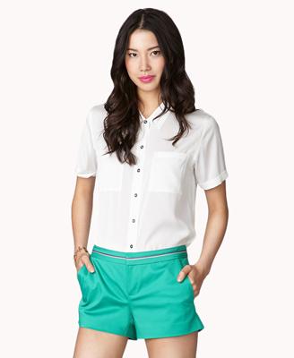 Forever 21 green shorts, $14.75