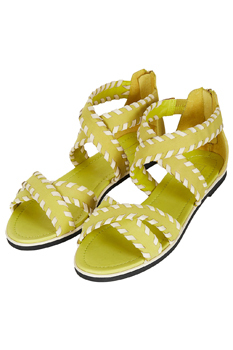 Topshop yellow sandals, $85