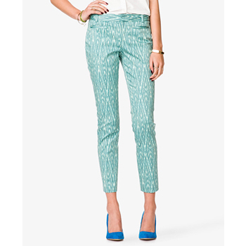 Forever 21 green patterned pants, $18.75