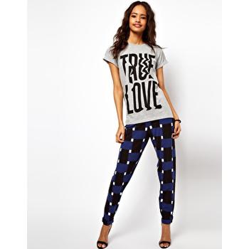 Asos geometric printed pants, $44
