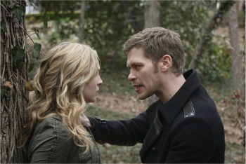 Caroline and Silas (in disguise as Klaus)