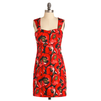 Modcloth poppy print dress, $49.99