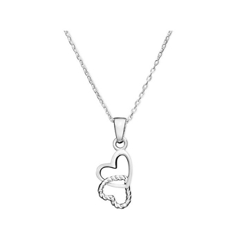 Two-hearts necklace, $22