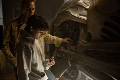 Young Clark (Dylan) examines the Krypton ship