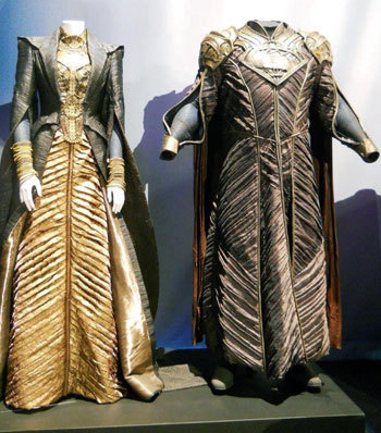 Costumes for Lara (Superman's mom) and Jor-El (his father)