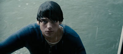 A soaked Dylan in the film