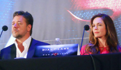 Russell Crowe (Jor-El) and Diane Lane (Martha Kent) at our interview