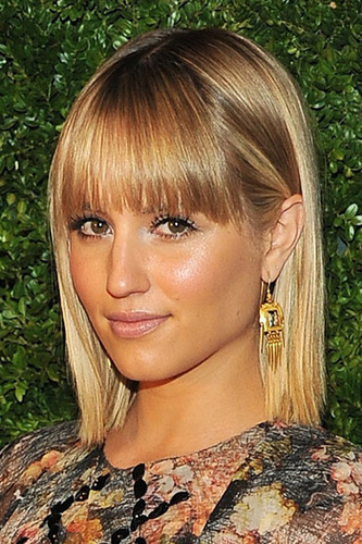 Dianna Agron goes for bronzey gold