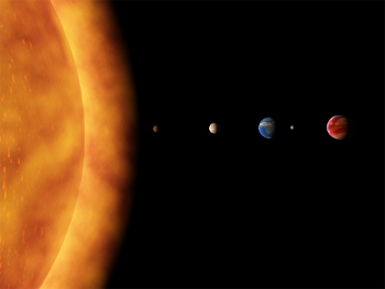 The sun is the largest mass in our solar system