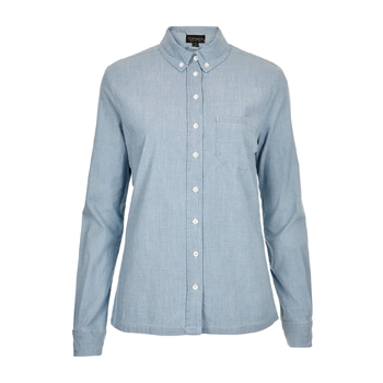 Topshop light denim shirt, $32