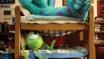 Mike is sick of Sulley as a bunkmate