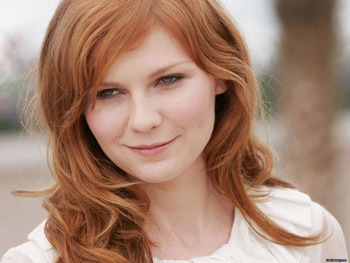 Kirsten Dunst knows how to flatter her round face