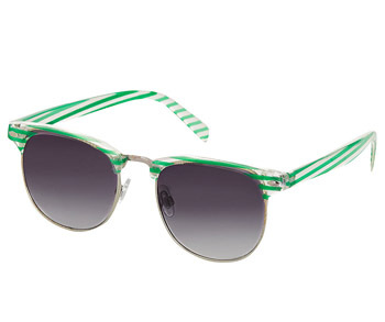Topshop striped sunglasses, $20