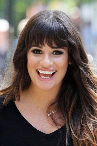 Lea Michele has a classic square-shaped face