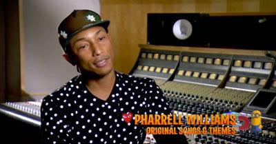 Pharrell in the recording studio