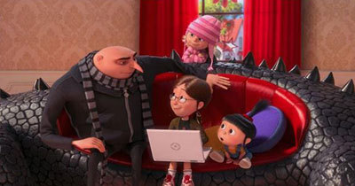 Margo tries to put Gru on a dating site