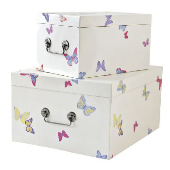 Storage boxes like these can be slipped under your bed or left in plain sight