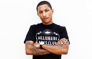 Pharrell is co-founder of the Billionaire Boy Club line