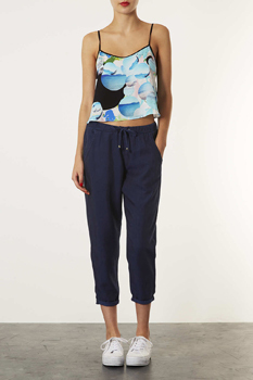 Topshop navy pants, $60