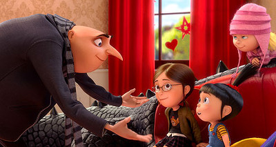 Gru and daughters
