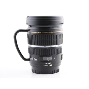 Camera lens mug, $18 Courtesy of www.usbgeek.com