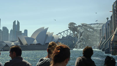 A giant Kaiju attacks Sydney