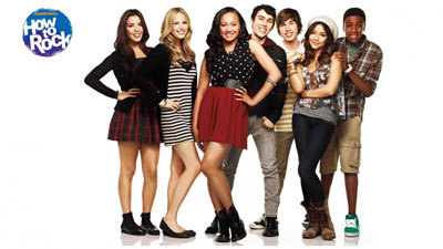 Halston (2nd from left) with How to Rock cast