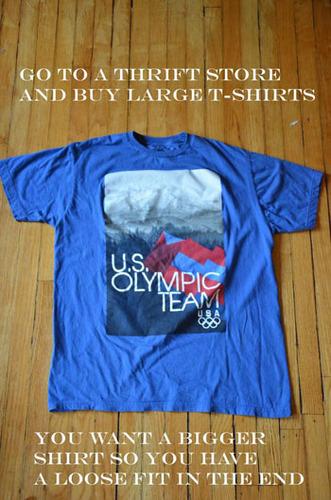 Choose an old t-shirt