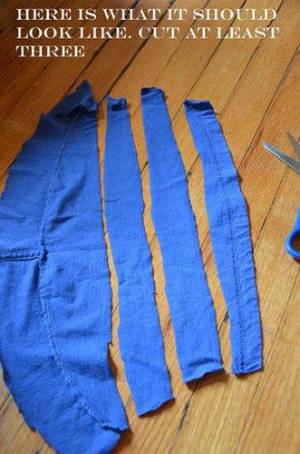 Cut at least three strips