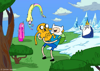 Jake and Finn are adventuring BFFs
