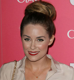 Lauren Conrad goes glam with red lips