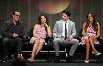 Clark, Ming-Na, Brett and Chloe at the interview