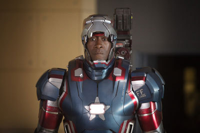 Rhodey as Iron Patriot