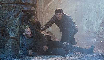 Kirk, Uhura and Spock on Kronos