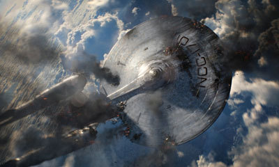 The Enterprise attacked by Marcus' ship