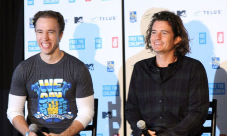 Craig Kielburger and Orlando Bloom