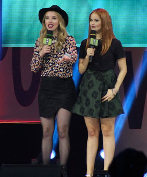 Liz Trinnear, Much Host and Debby Ryan, Actress