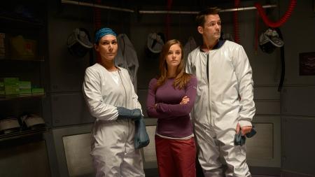 Julia (Kyra) and Alan with young colleague Dr. Jordan