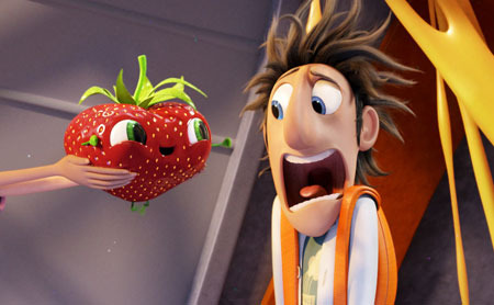 Flint meets his first foodimal Barry...the berry