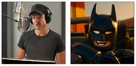 Will Arnett recording voice of Batman