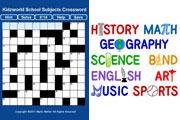 Preview school subjects crossword pre