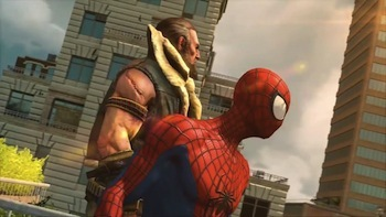 Kraven takes Spiderman under his wing.