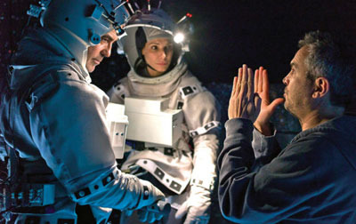 Director Cuaron talks to George and Sandra