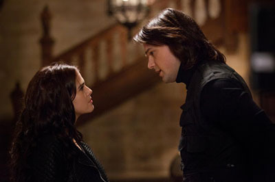Rose (Zoey) gets a lecture from Dimitri (Danila)