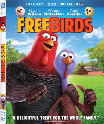 FREE BIRDS Blu-ray and DVD Cover