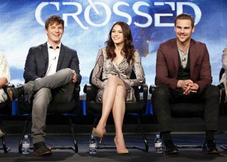 Matt, Aimee and Grey being interviewed